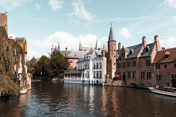 Small Castle near Water in Bruges, Belgium daniel-van-der-kolk